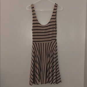 Striped Beige Dress